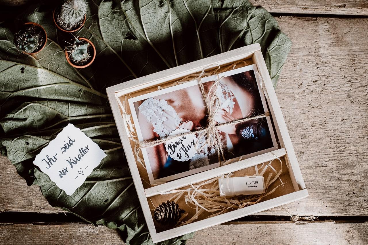 Eure Hochzeitsfotos liebevoll verpackt